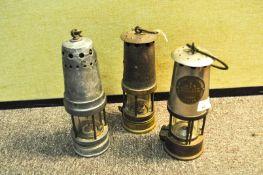 Three Davey lamps