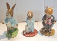 A Beswick Peter Rabbit and two other figures