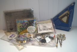 A collection of ephemera to include postcards, picture cards, ferry tickets, expired tax discs,