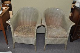 A pair of Lloyd Loom style chairs