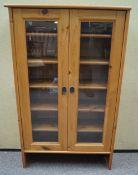 A pine bookcase