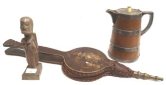 A pair of chinoiserie bellows,