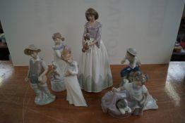 Six Nao figures