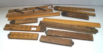 A group of boxwood rulers