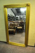 A large bevelled edge mirror