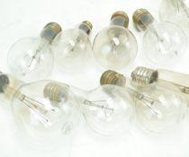A group of warehouse bulbs,