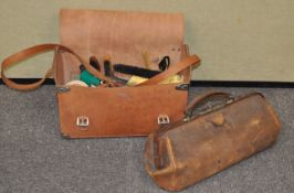 A boot kit and and a Doctor's bag