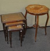 An Edwardian mahogany occasional table,