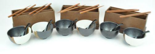 Six Japanese bowls