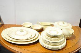 A Grays pottery sunbuff dinner service