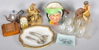 A collection of assorted items to include; Royal Doulton Sairey Gamp 1st edition,