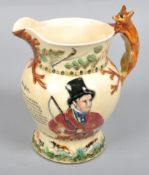 A Crown Devon Fielding's musical John Peel Hunting jug 19.5 cm.