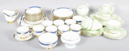 "Two part tea service to include; Paragon and a Royal Albert ""Laurentian Snowdrop""."