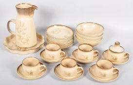 A Denby breakfast coffee service