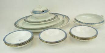 A Losol Ware Keeling & Co Burslem part dinner service having gilt