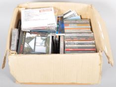 A box of CD's