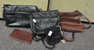 A collection of three handbags to include; H J De Rooy,