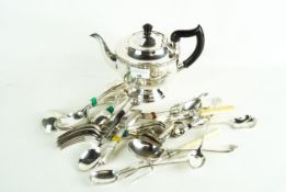 A collection of assorted silver plate,