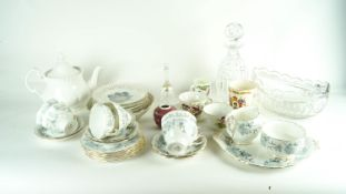 A Royal Albert teaset and other items
