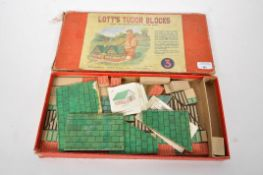 A boxed Lotts Tudor Blocks game