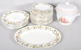A Wedgwood Beaconsfield pattern part dinner-service, 20th century, printed marks,