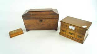Tea caddy and other boxes