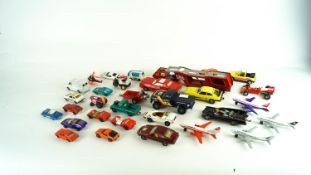 A collection of assorted scale Die cast model cars