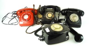 A selection of vintage telephones