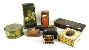 A selection of tins and boxes