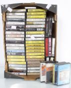 A quantity of cassette tapes to include Jim Reeves,