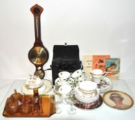 Two part tea services by Colclough, ivy leaves and posies,