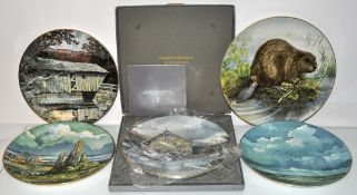 Four Doulton limited edition plates and 1 other (5)