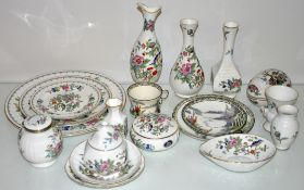 A group of Aynsley 'Pembroke' pattern china and other items