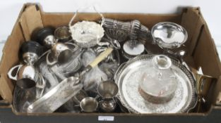 A group of mixed metalware