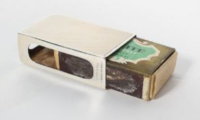 A small scale silver matchbox cover with all over engine turned decoration, Birmingham 1937, 2.