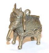 Metall Anhänger in Form eines Fantasie-Elefanten, H 4 cm