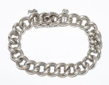 Rundpanzer Armband, Silber geprüft., 54 gr., L 16 cm