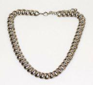 Halskette, Silber geprüft, 56 gr., L 38 cm