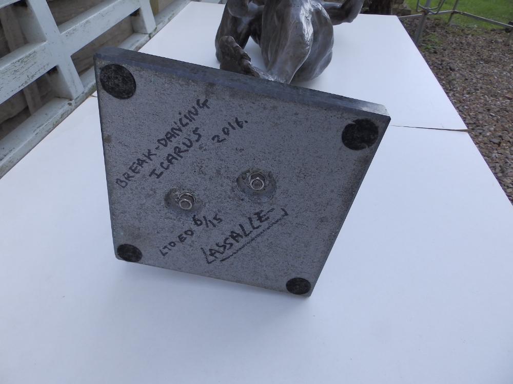 "Lot 49 - Lucianne Lassalle - limited edition bronze resin figure - 'Break-dancing Icarus'. 6/15. 2011, 27"""