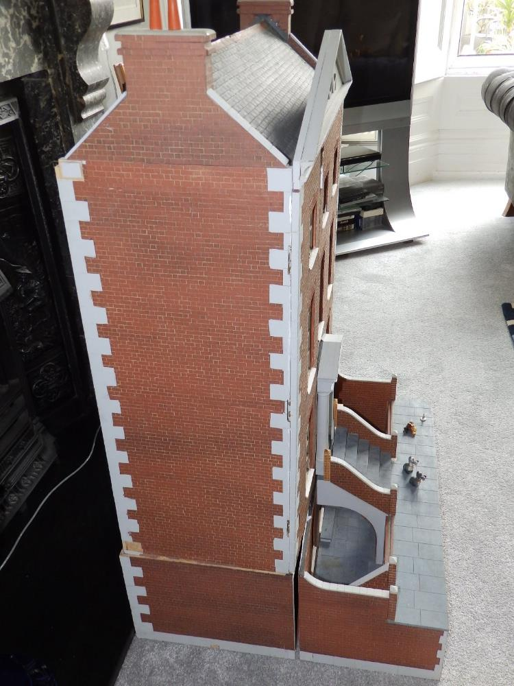 """Lot 67 - A modern wooden doll's house in the form of a four storey Georgian town house, Overall height 44"""","""