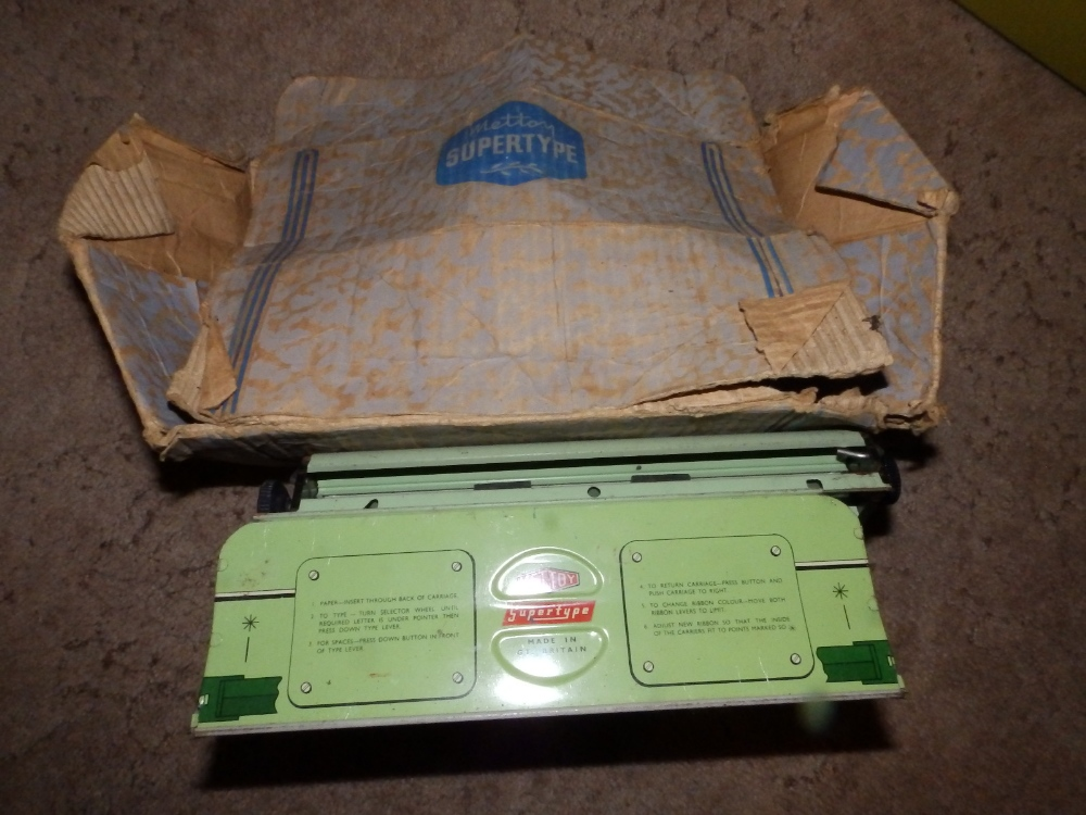 Lot 47 - A Mettoy 'Supertype' tinplate typewriter and a boxed Subbuteo set - 'Continental Display