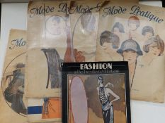 Five 1920's French fashion magazines and a book - 'Fashion in the Twenties & Thirties'. (6)