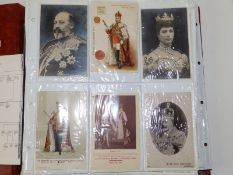 A quantity of approximately 260 postcards depicting The Royal House of Windsor.