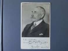 Edward Elgar (1857-1934) - a signed Elgar postcard, from an issue of portrait cards published by the