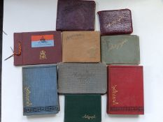 Six early 20thC autograph books and two albums of small photographs including some military and