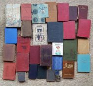 A collection of 32 miniature books including The Bible & Shakespeare.