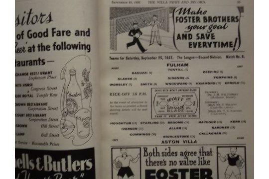1937-38 ASTON VILLA BOUND VOLUME - Image 4 of 5