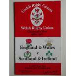 RUGBY UNION - 1980 WALES & ENGLAND V SCOTLAND & IRELAND PROGRAMME + TICKET