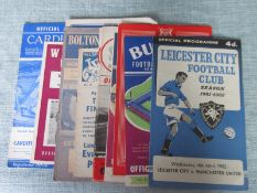 MANCHESTER UNITED AWAY PROGRAMMES 1961-62 X 10