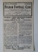 1945-46 FULHAM V WEST BROMWICH ALBION